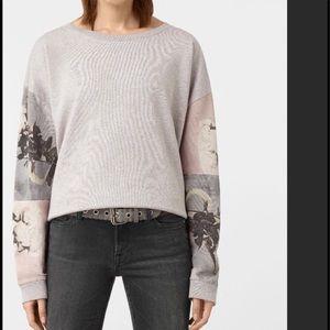 "🦋All Saints Gray ""Belle Lo"" Sweatshirt, Small"